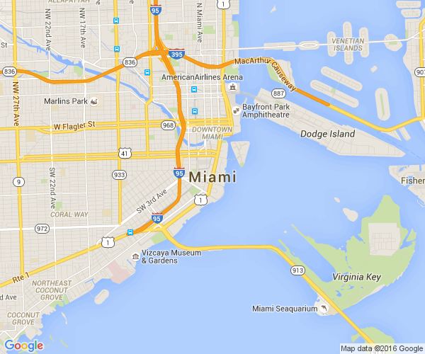 Google Map of miami